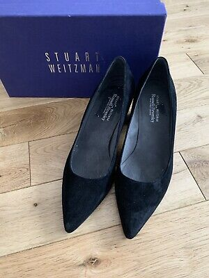 Russell & Bromley Stuart Weitzman Black Suede Court Shoes Size 4.5 • 30£