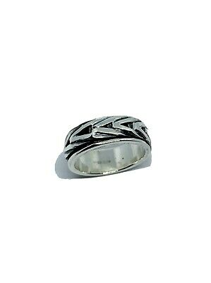 Mens Spinning Ring In Sterling Silver 925 • 35£