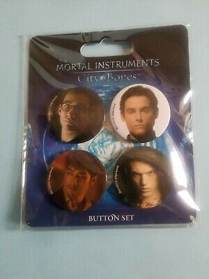 "The Mortal Instruments: City Of Bones 1.5"" 4-Piece Button Set – New & Sealed • 5.95£"