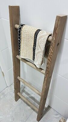 Leaning Ladder Towel Rail Wooden • 30£