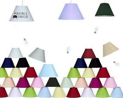 £10.99 • Buy 9  12  14  16  18  Panama Coolie Shades Hard Lined-table Lamps Or Ceiling Shades