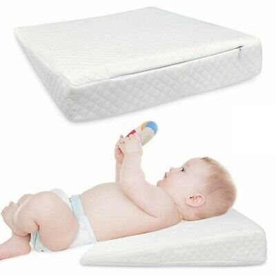 £11.99 • Buy Baby Anti Reflux Wedge Pillow Baby Colic Cot Bed Anti Allergic WASHABLE Cover