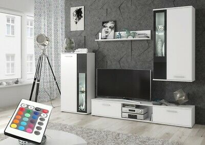 Living Room Furniture Set Tv Unit Display Stand Wall Mounted Cupboard RGB Lights • 265£