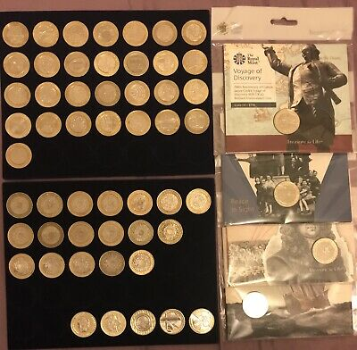 56 X £2 Coins Job Lot Two Pound Collection  Circulated & Uncirculated Royal Mint • 165£