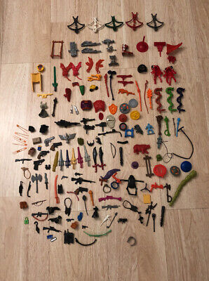 $237.50 • Buy VTG Heman HE-MAN MOTU Gi Joe PARTS Large Mixed WEAPONS LOT