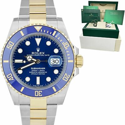 $ CDN21491.64 • Buy NEW 2020 Rolex Submariner Date 41mm Ceramic Two-Tone Gold Blue Watch 126613 LB