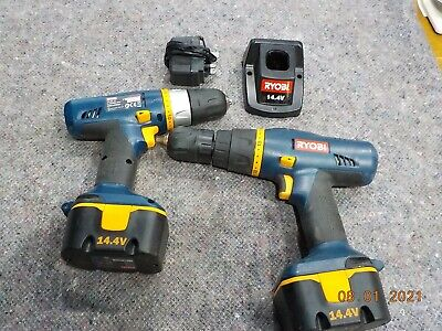 Ryobi 14.4v Hammer Drill And Driver Set Plus 2 Batteries And Charger • 19.99£