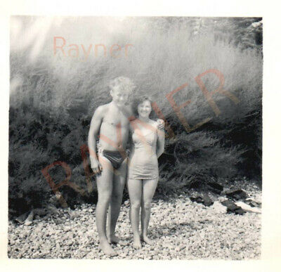 Photo Of RAF Soldier Ron & Pat In Swimming Costumes 1955 : B1/17 • 5.49£
