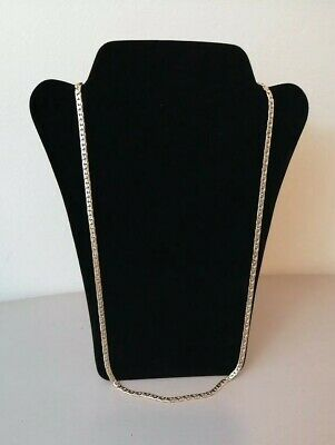 Womens Gold Toned Plated Flat Snake Style Chain Necklace  • 11.99£