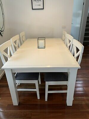 AU450 • Buy Dining Table And Chairs 6 Used