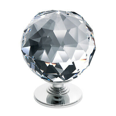 TEZ 60mm Crystal Knob Finial For Doors, Bed Board, Staircase Newel Post, Posts  • 16.99£