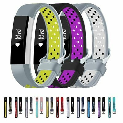 AU4.74 • Buy For Fitbit Alta/Fitbit Alta HR Silicone Sport Replacement Watch Band Wrist Strap