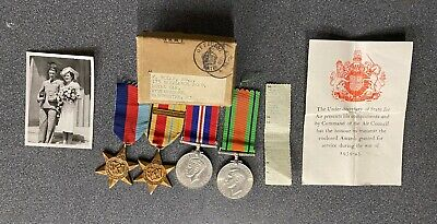 Ww2 Raf Medal Group, Air Ministry Box  + Cert & Slip Untouched House Clearance.  • 95£