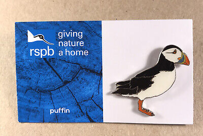 RSPB PUFFIN charity pin badge COMBINES P+P GNAH BRAND NEW DESIGN CARD