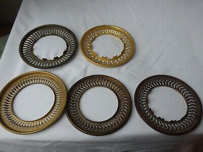 4  Galleries / Gallery / Shade Carriers / Trays For Duplex Oil Lamp Burners X 5. • 10.99£