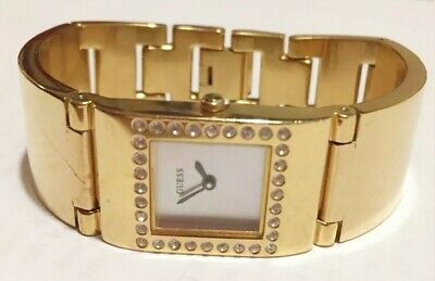 $ CDN82.03 • Buy Women Guess Watch 180213l3 Gold Bangle Bracelet Band Gold Mop Face Diamond Acc