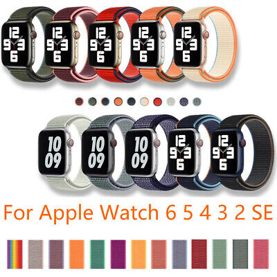 AU5.29 • Buy Nylon Woven Loop Sport Strap Band 38 40 42 44mm For Apple Watch Series 6 5 4 3 2