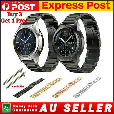 AU11.95 • Buy For Samsung Galaxy Watch 42/46mm Gear S3 Band Stainless Steel Strap Metal Watch
