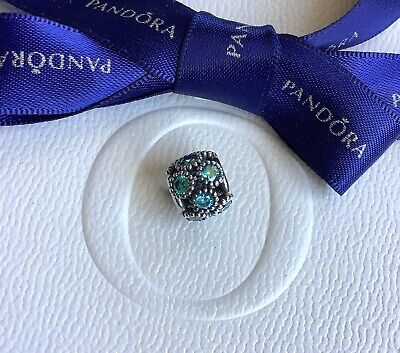 AU59 • Buy Authentic Pandora Blue Green Teal Studded Circles Openwork  Charm #791296MCZ