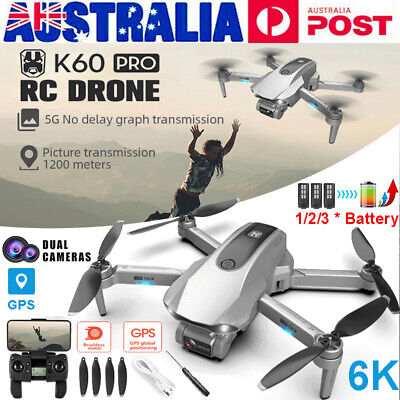 AU50 • Buy 5G Drones X Pro With 6K HD Dual Camera GPS Wifi FPV Quadcopter Drone 1/3 Battery