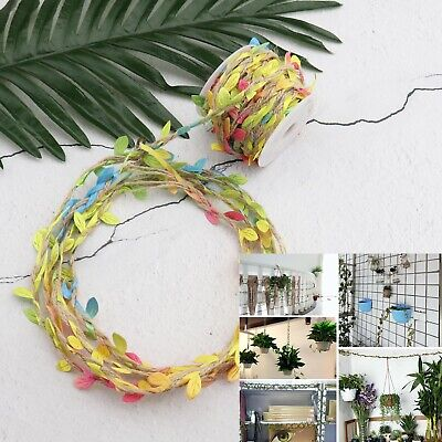 20m Jute Rope Twine Burlap Leaf Ribbon For DIY Home Craft Decor Multicolored • 11.48£