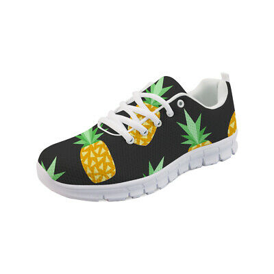 £27.99 • Buy Pineapple Running Shoes Lightweight Soft Sport Hiking Trainer Sneaker Lace Up