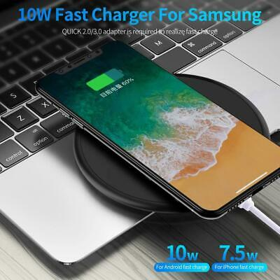 $ CDN12.08 • Buy Qi Wireless Fast Charger Charging Pad 10W Multi-Color For IPhone/Samsung