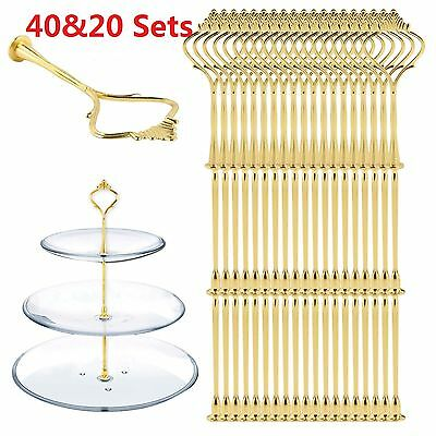 £15.39 • Buy 20/40Set 3 Tier Cake Plate Cupcake Stand Rack Fittings Handle Rod Wedding Party
