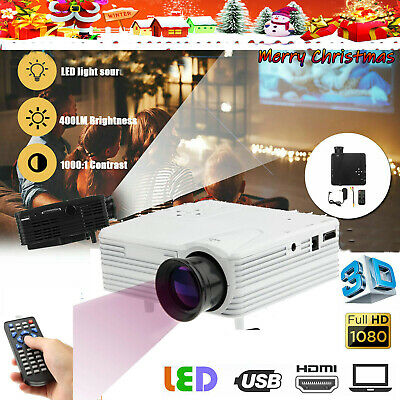 NEW Mini LED HD 1080p Home Cinema Projector LCD Video Home Theater HDMI USB SD • 21.99£