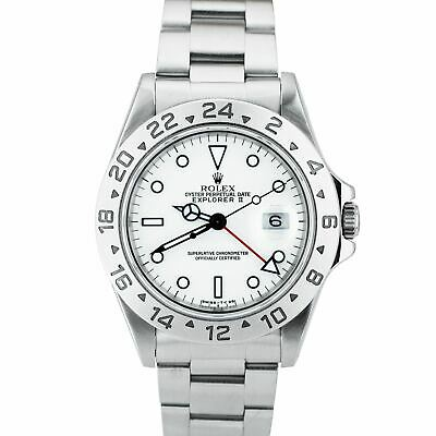 $ CDN9020.26 • Buy 1995 Rolex Explorer II Polar White Stainless Automatic 40mm GMT 16570 Date Watch