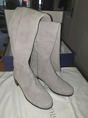 Stuart Weitzman Over The Knee Grey Suede Boot Womens EU 37/ US6.5 / UK 4.5 • 190£