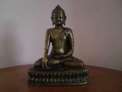 Antique Indian / Tibetan Bronze Buddha Akshobhya Shakyamuni Early 20th Century • 250£