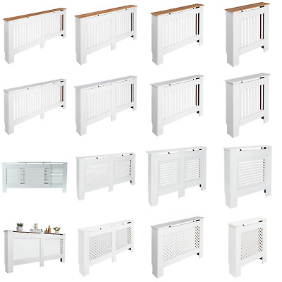 Modern Radiator Cover Cabinet Shelf Slatted Ventilated Grill Hallway Small Large • 32.99£