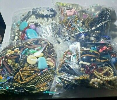 1KG Job Lot Costume Jewellery Mixed Bundle Upcycle Resell Resale Free UK P&p • 13£