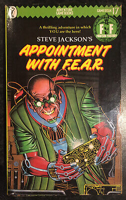 AU19.78 • Buy APPOINTMENT WITH F.E.A.R. Fighting Fantasy #17 1985 1st/2nd Green Banner G+