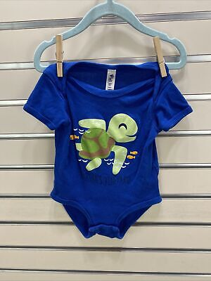 £4.34 • Buy MARTHA'S VINEYARD Baby  18M One Piece Blue With Graphic Turtle