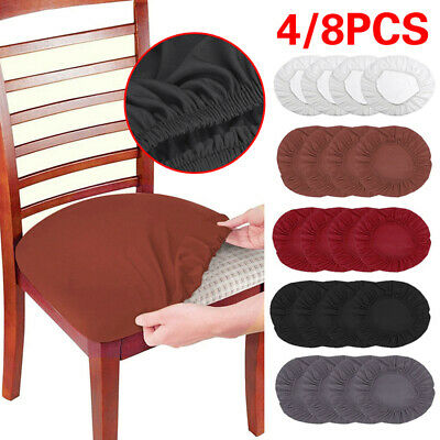 £2.29 • Buy 1/4/8PCS Home Dining Chair Seat Covers Soft Removable Elastic Stretch Slipcovers