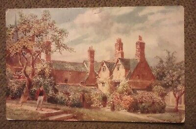 Oxford The Cottages Trinity College Tuck Oilette 7643 Series I Wimbush Postcard • 1£