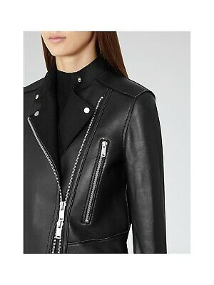 AU120 • Buy Reiss 'Phoebe' Black Leather Jacket - Great Condition! Size 8
