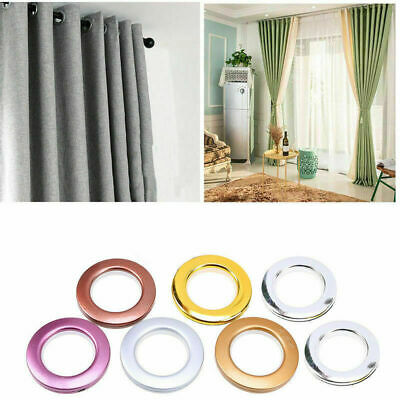 1/8/10/20/40 Round Eyelet Curtain Rings Clips Grommet Blinds Drapery Accessories • 2.78£