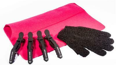 £8.99 • Buy Heat Protective Glove, Pink Heat Proof Mat Travel & 4 X Cloud Clips For Hair