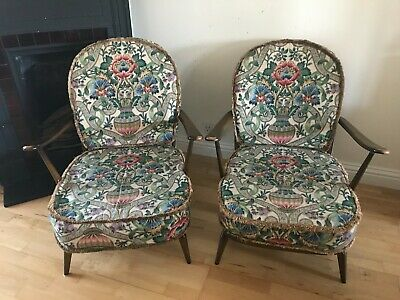 Pair Of Vintage Mid-Century Ercol Windsor Easy Chair Armchairs (203) • 350£