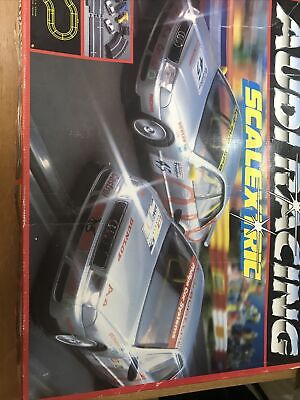 Vintage Hornby Scalextric Audi  Racing Box Set Two Touring Cars  Audi A4 • 60£