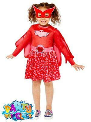 PJ Masks Costume Owlette Rainbow Dress Superhero Kids Official Fancy Dress Outfi • 14.98£