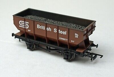 Dapol 21ton Coal Hopper British Steel Consett OO Gauge • 5.99£