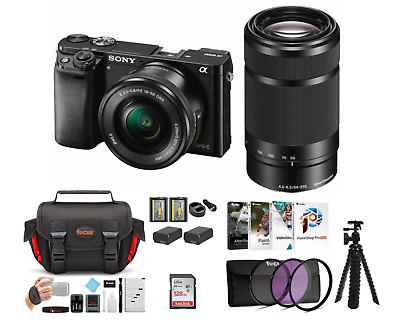 $ CDN1212.09 • Buy Sony Alpha A6000 Mirrorless Camera (Black) With 16-50mm And 55-210mm Lens Bundle