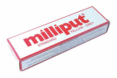 Milliput Standard Yellow Grey Adhesive 2 Two Part Epoxy Putty Model Filler Mould • 3.90£