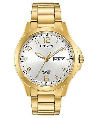$ CDN69.77 • Buy Citizen Eco-Drive Men's Gold-Tone Day/Date Indicator 40mm Watch BF2003-50A