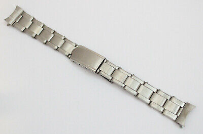 Vintage Watch Stainless Steel Riveted & Expandable Bracelet Strap Band 16mm  • 49.90£