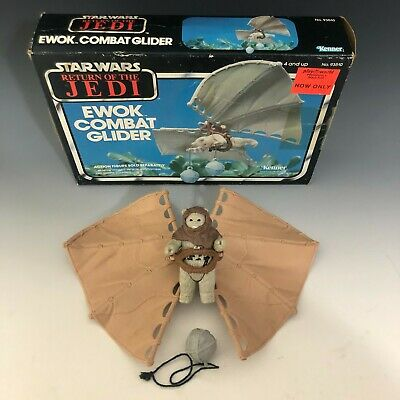 $ CDN101.24 • Buy Vintage Star Wars ROTJ Ewok Combat Glider Kenner W/Box,Instructions,Chief Chirpa